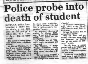 Cambridge Evening News, 9th March 1991