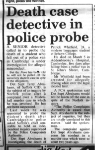 Cambridge Evening News, 14th March 1991